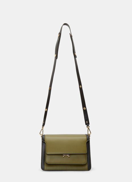 Bi-Colour Trunk Shoulder Bag