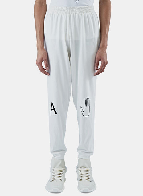 Embroidered Patch Track Pants