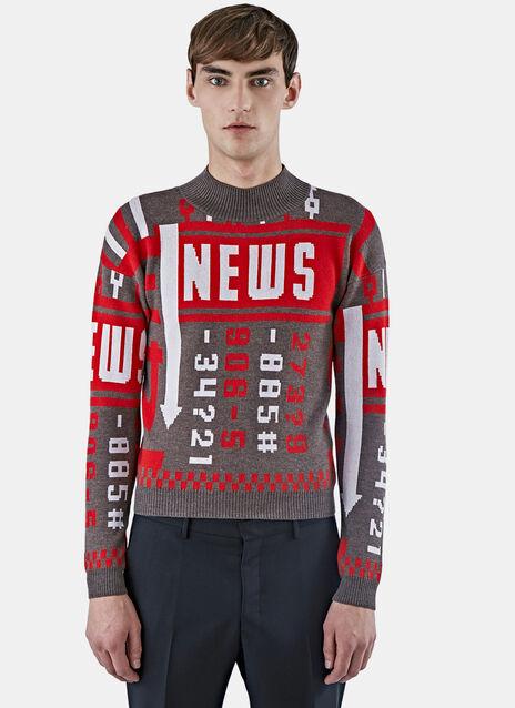 News Mock Neck Sweater