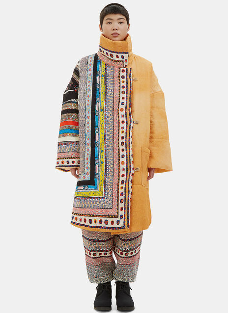 Oversized Matelassé Silk Patterned Coat