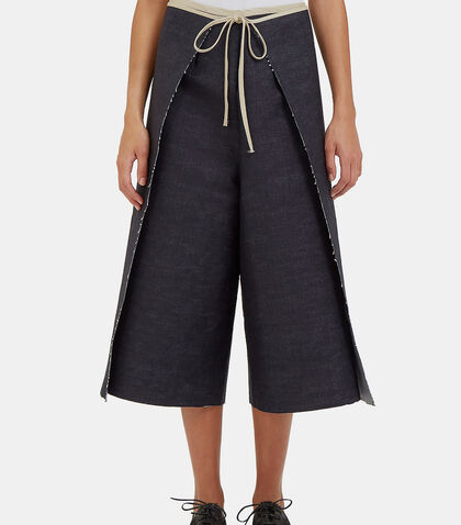 Denim Wrap-Around Pants