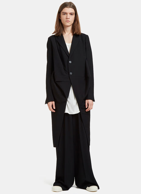 Orchid Single-Breasted Draped Coat