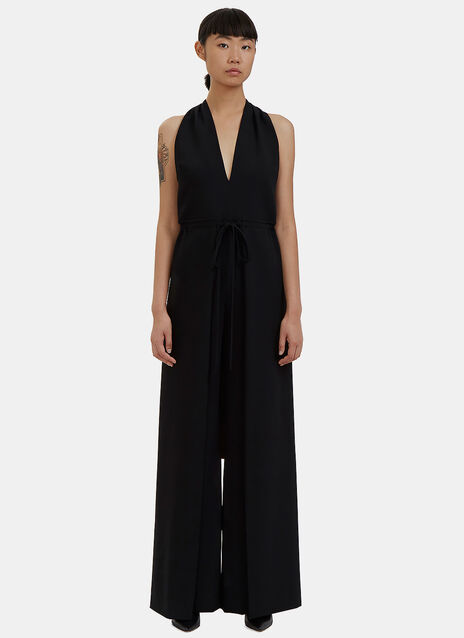 Halterneck Backless Palazzo Jumpsuit