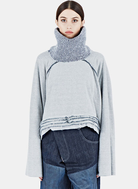 Raglan Fisher Layered Sweater