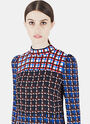 Long Sleeved Patterned Blouse