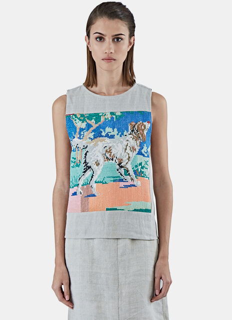 Dog Sleeveless Top