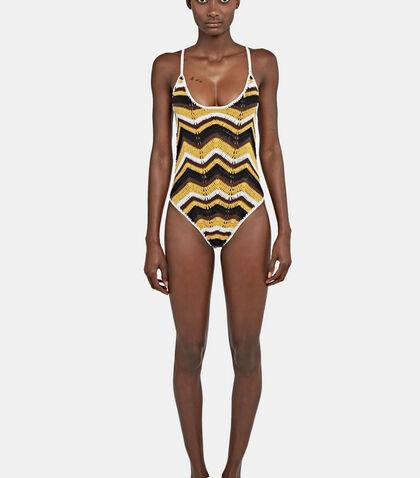 Honey Zigzag 70s Swimsuit