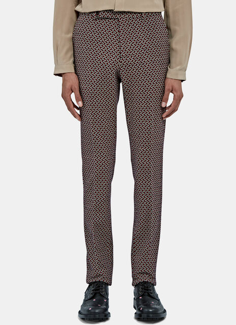 Slim Tiled Jacquard Pants