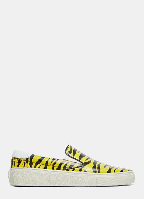 Tiger Print Slip-On Sneakers