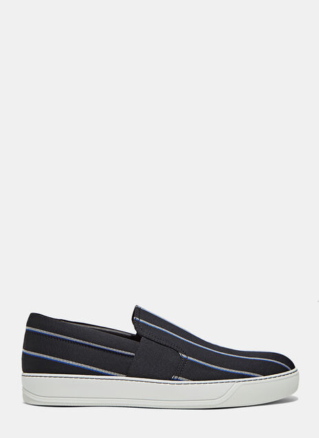 Slip-On Striped Jacquard Sneaker