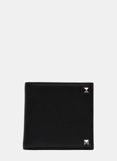 Pyramid Stud Fold Wallet