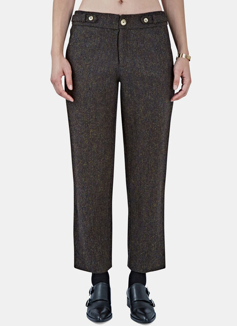 Tweed Straight Leg Pants