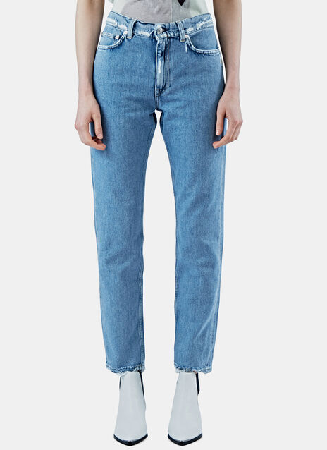 Boy Ind Frayed Straight Leg Jeans