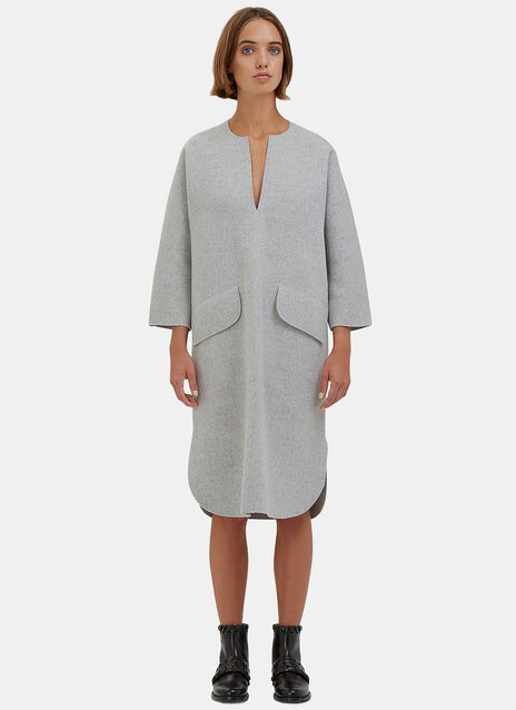 Oversized Wool Pocket Dress