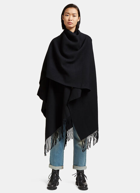 Oversized Apolo Fringed Poncho Scarf