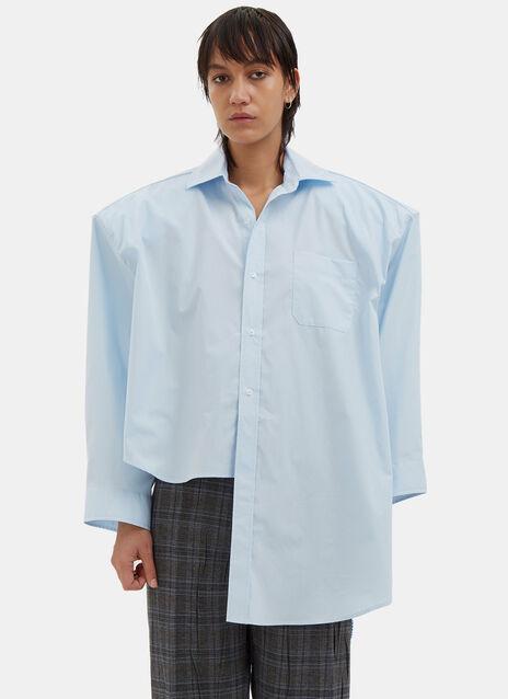 Football Shouldered Poplin Shirt