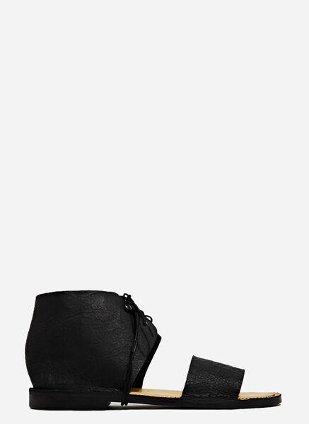 Image of Barny Nakhle Cracked Leather Atlas Sandals