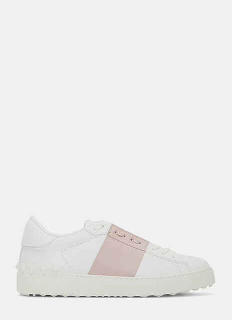 Contrast Panel Stud Sneakers