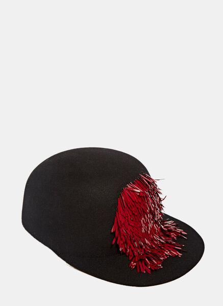 Lanvin Sequin Tassel Cap