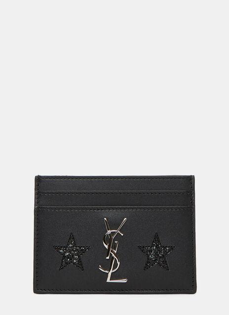Monogrammed Cracked Star Card Holder