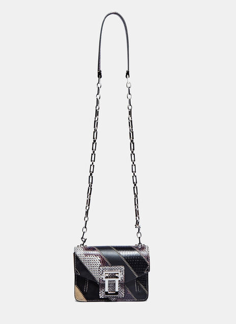 Hava Diagonal Panel Crossbody Bag