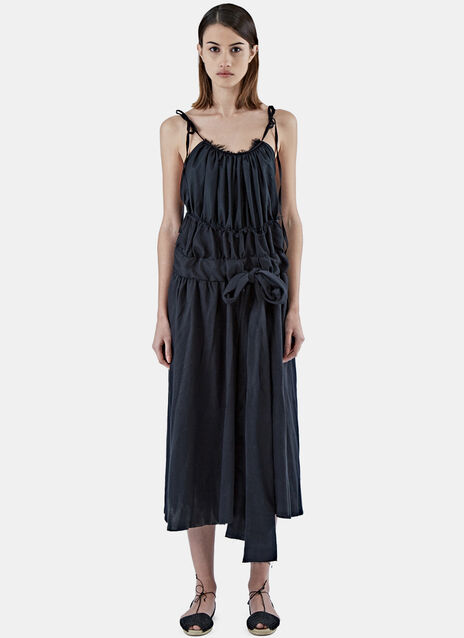 Mid-Length Waisted Halterneck Dress
