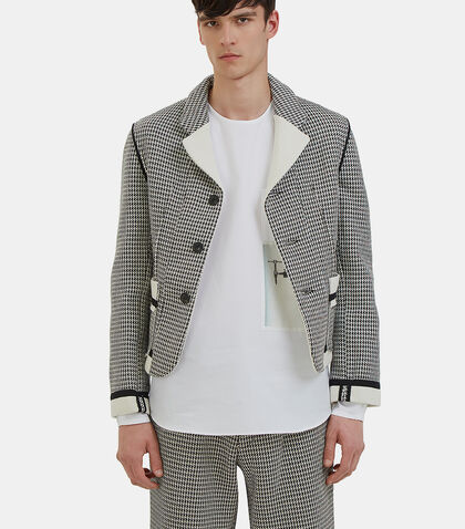Houndstooth Blazer Jacket