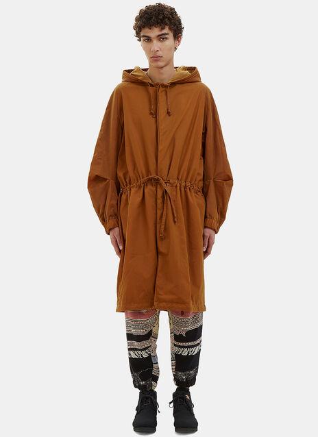 Oversized Waxed Parka Coat