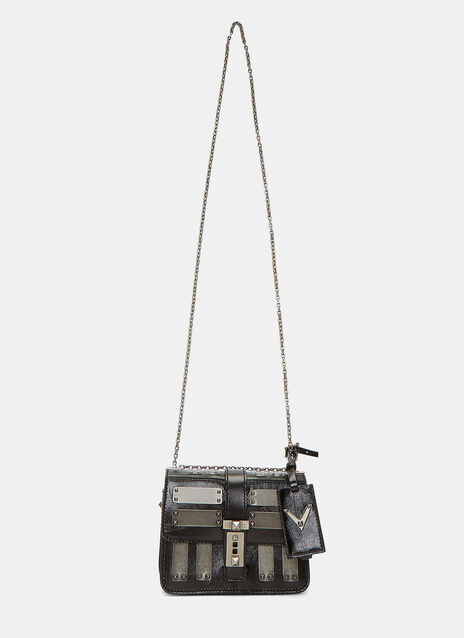B-Rockstud Mini Plated Crossbody Bag