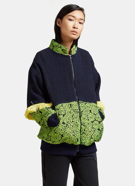 Tasselled Floral Patch Jacket