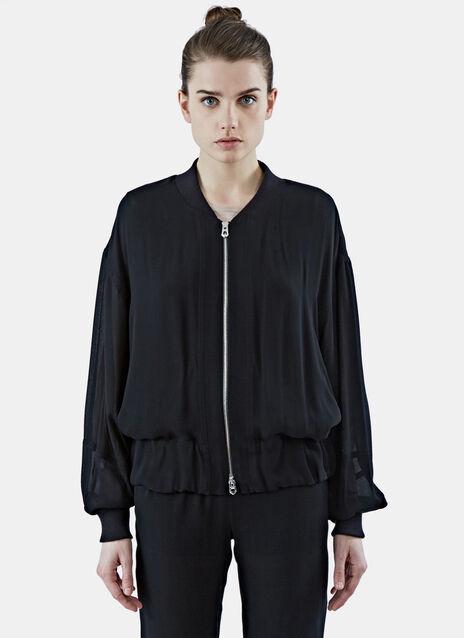 Sheer Bomber Jacket