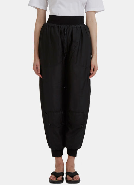 Silk Padded Track Pants
