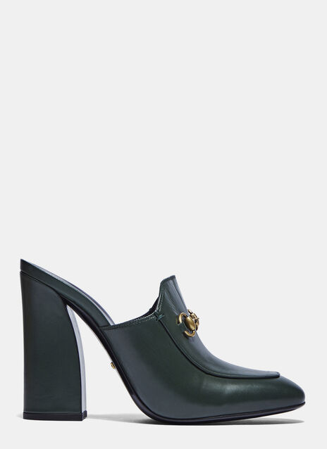 Heeled Loafer Mules