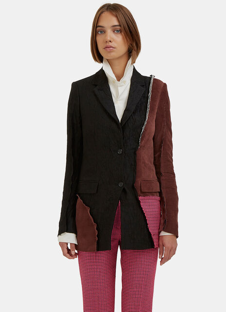 Deconstructed Patchwork Blazer Jacket
