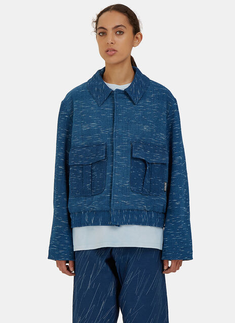 Beau Canvas Rain Ikat Jacket