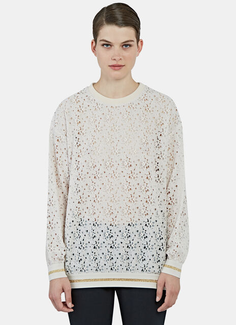Oversized Rose Lace Sweater