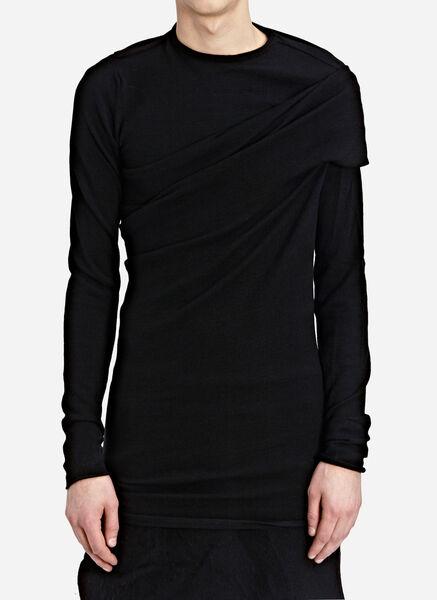 Long sleeve mock neck draped s