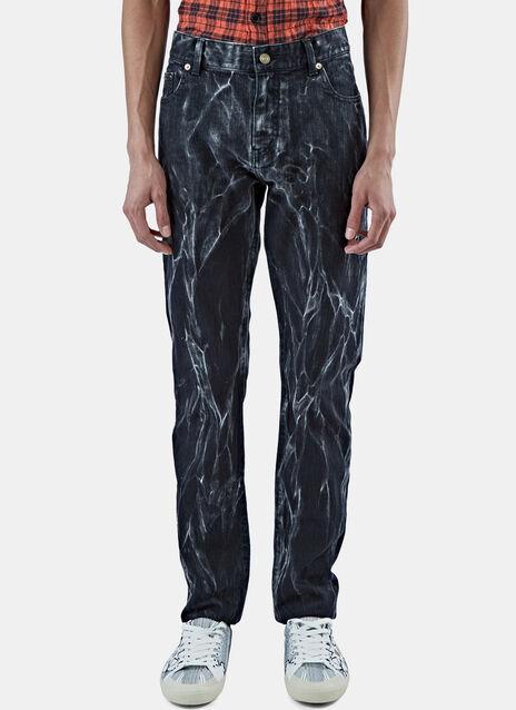 Straight Leg Tie-Dye Jeans