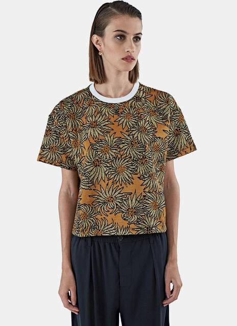 Boxy Lamé Jacquard T-Shirt
