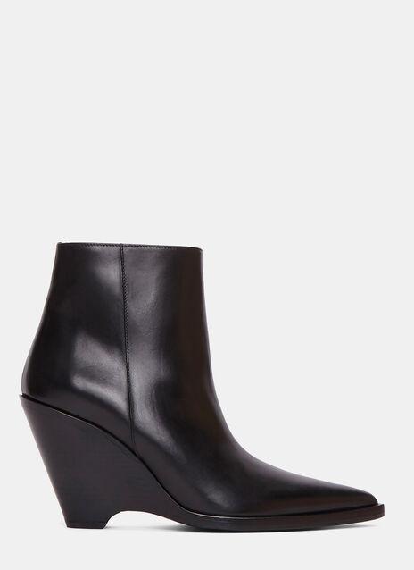 Caroline Slanted Heel Ankle Boots