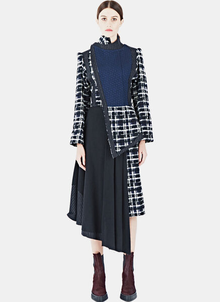 Image of Aganovich Long Tweed Dress Coat