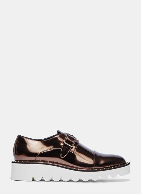 Odette Metallic Brogue Shoes