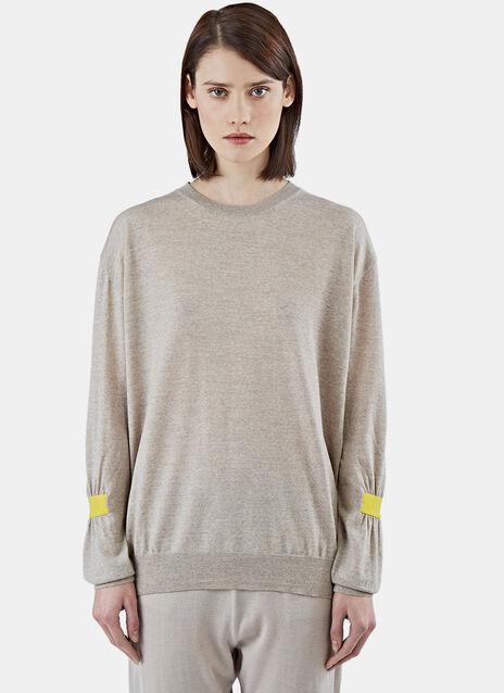 Gathered Sleeve Sweater