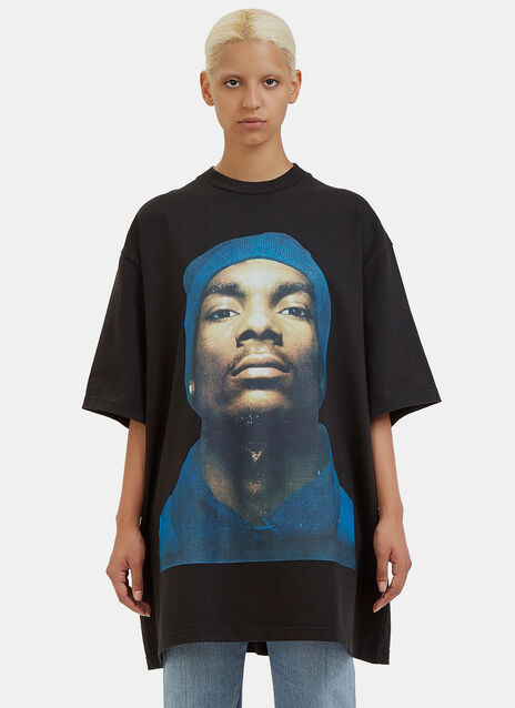 Oversized Snoop Dogg Printed T-Shirt