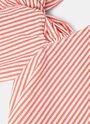 Seersucker Striped Shoulder Tie Dress