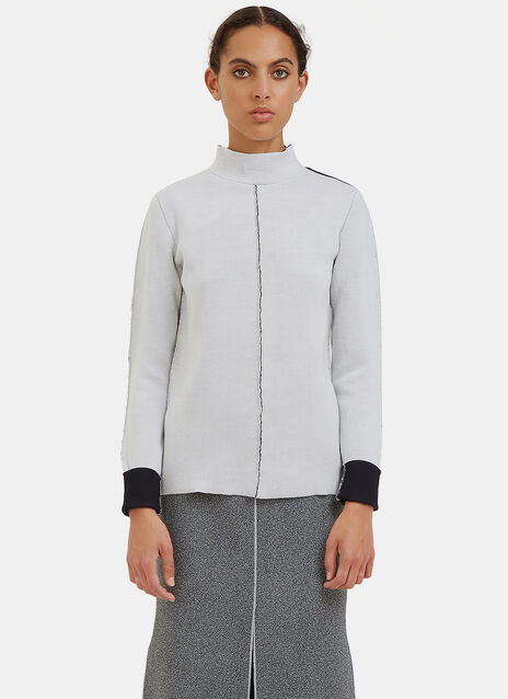 Double-Faced External Seam Sweater