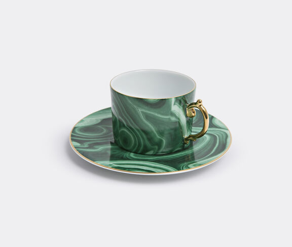 'Malachite' teacup and saucer, set of two