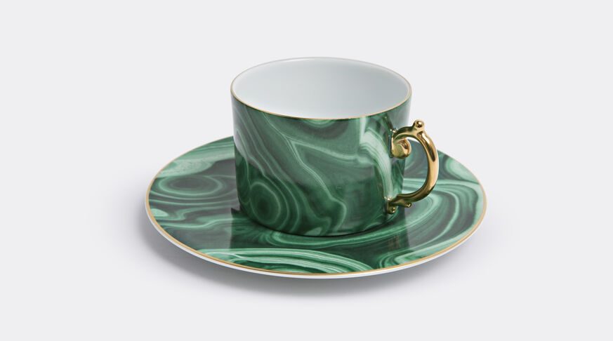 Malachite Tea Cup + Saucer (Gift Box Of 2)