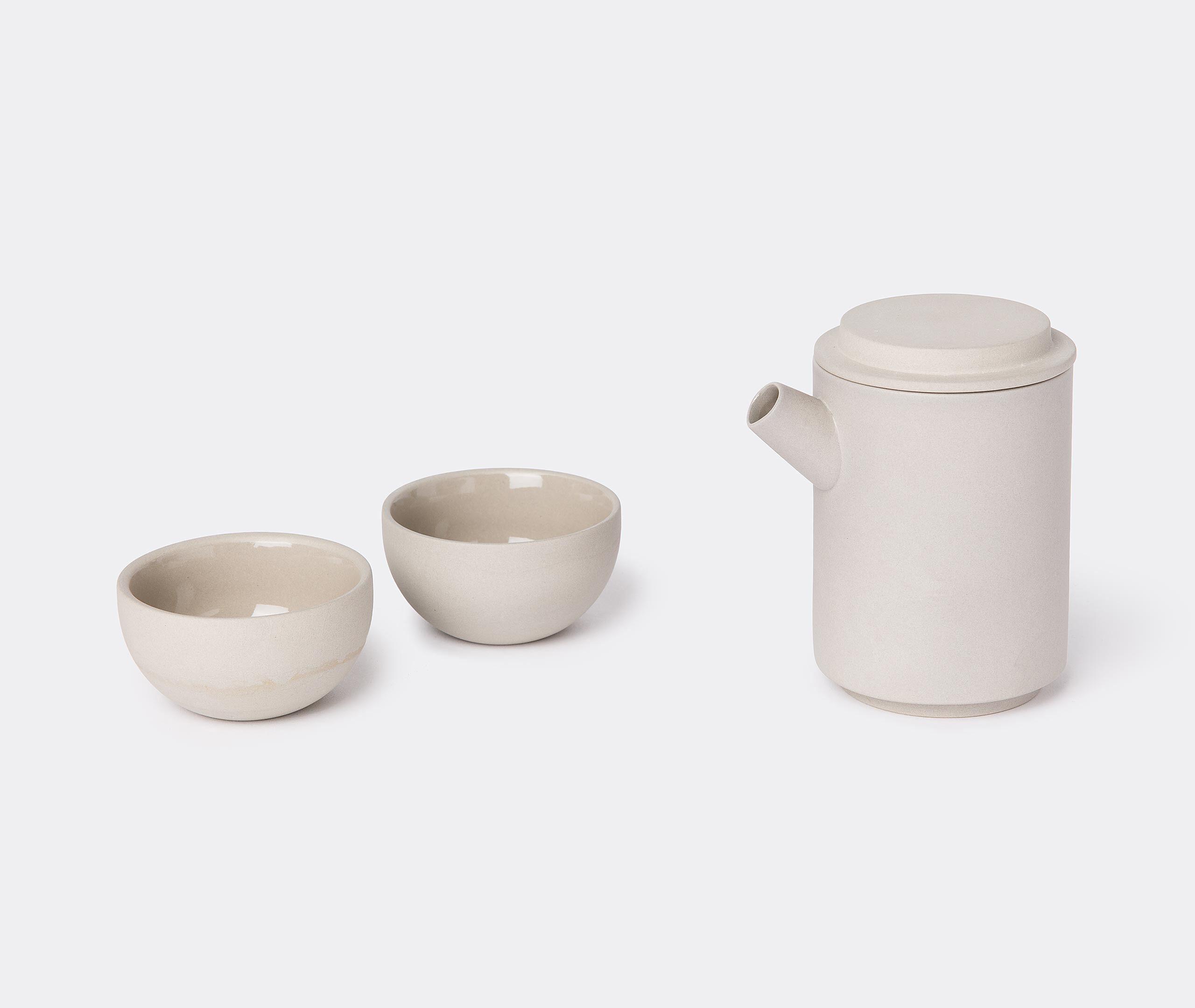 Round Travel Teapot Set + Bag