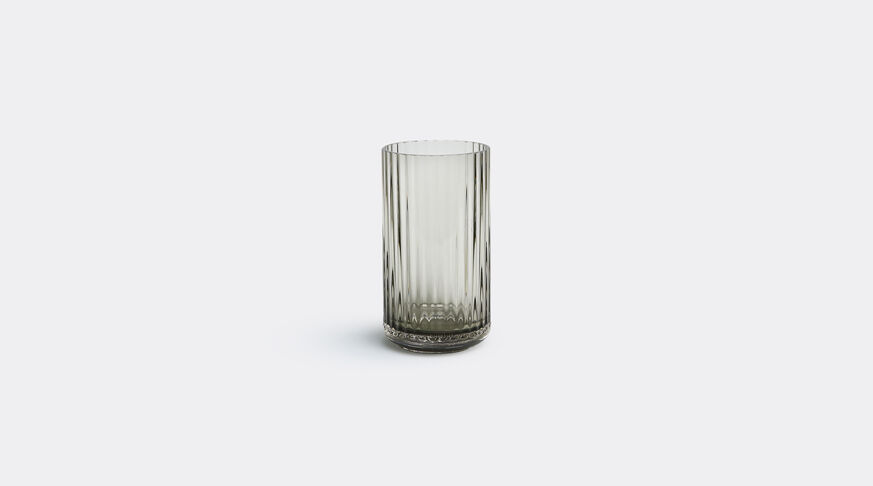 Lyngby Vase 15Cm Glass, Grey Smoke